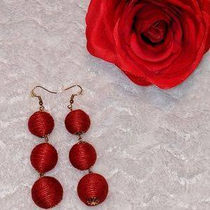 💲⬇️💖Red Bon Bon Earrings